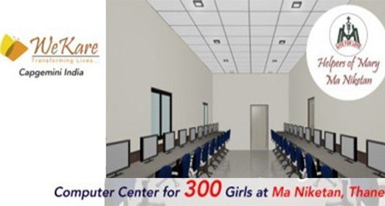Computers for 300 Girl Children at Ma Niketan, Thane