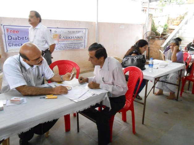 Diabetes Check-up Camp – Senior Citizens of VCF (2012)