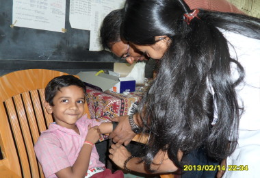 Anemia Detection Camp – Sri Ram Vidya Mandir, Thane (2013)