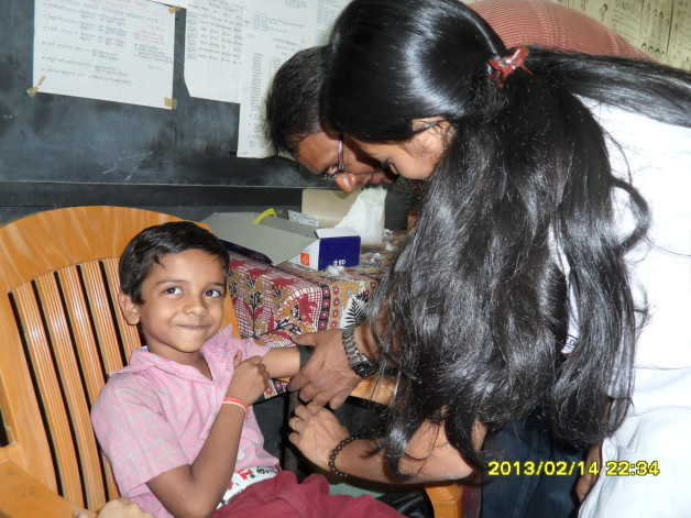 Anemia Detection Camp – Sri Ram Vidya Mandir, Thane (2013)