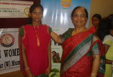 Fabindia Clothes distribution – Smt. P N Doshi Girls College, Ghatkopar (2013)