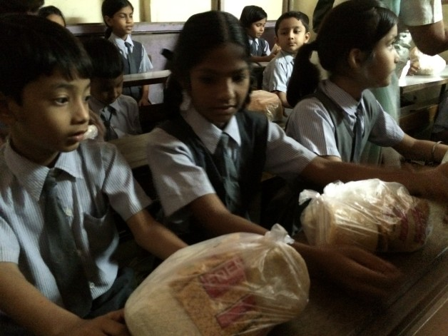Grain Distribution – Harkishan English Public School, Thane (2014)
